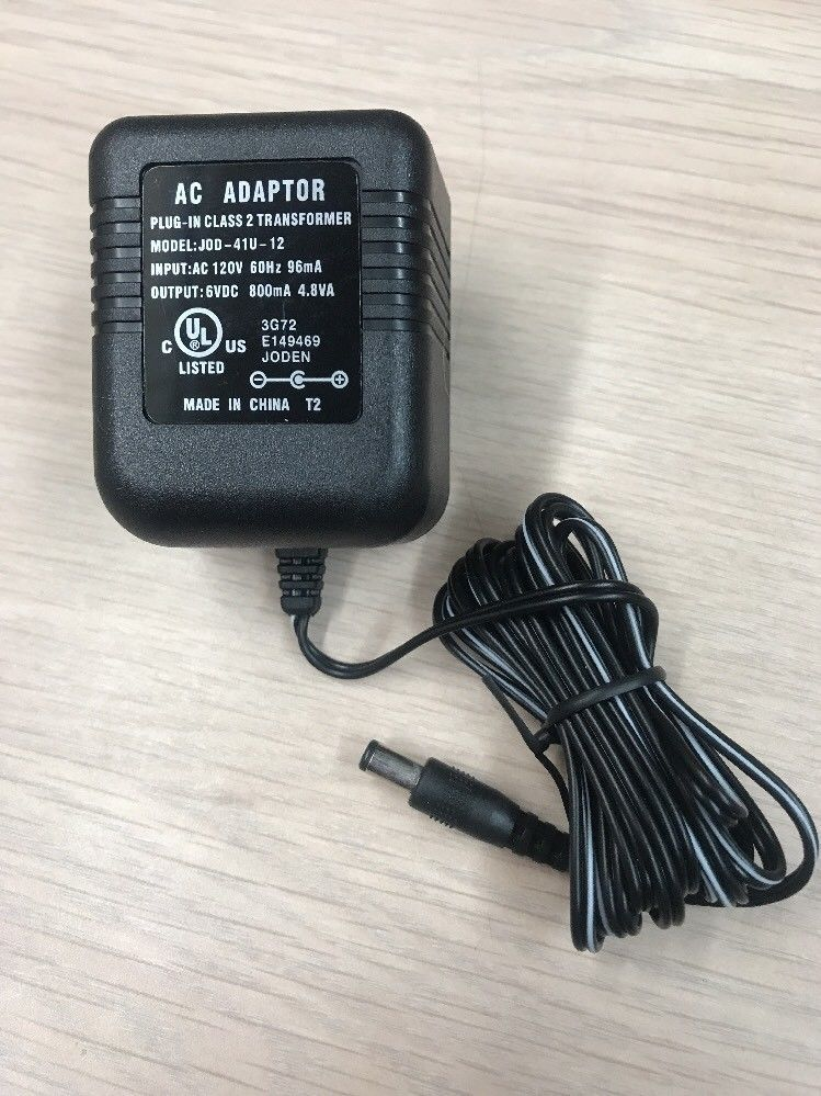 AC Power Supply Adapter Charger JOD-41U-12 Output: 6V DC 800mA                S3