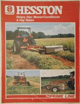 1985 Hesston 1030 Rotary Disc Mower,Hay Rakes, and Tedders  Brochure - $7.00