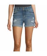 Vanilla Star Women's Juniors Denim Mid-Rise Shorts Size 3 Medium Wash Th... - £18.84 GBP