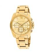 Michael Kors MK6366 Brecken Gold Tone Womens Chronograph Watch - $174.04