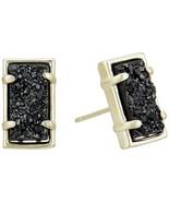 Kendra Scott Paola Back Druzy Gold Tone Stud Earrings NWT - $63.86