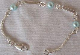 Light blue silver bracelet A - $20.00