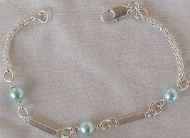 Light blue silver bracelet a   thumb200