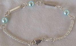 Light blue silver bracelet a  2 thumb200