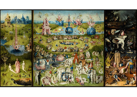 Art print POSTER /Canvas The garden of earthly delight by bosch. - $3.95+