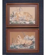James Bunnell 50s Home Decor Lions Cub 2 Art Prints MCM 1951 Vintage 02130 - $229.00
