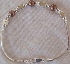 Brown silver bracelet a 2 thumb200