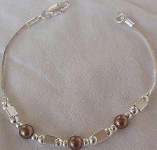 Brown silver bracelet a 1 thumb200