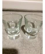 (2)  JAMESON IRISH WHISKEY SHOT GLASSES--1.5 OZ--WEIGHTED BASE----FREE S... - $19.67