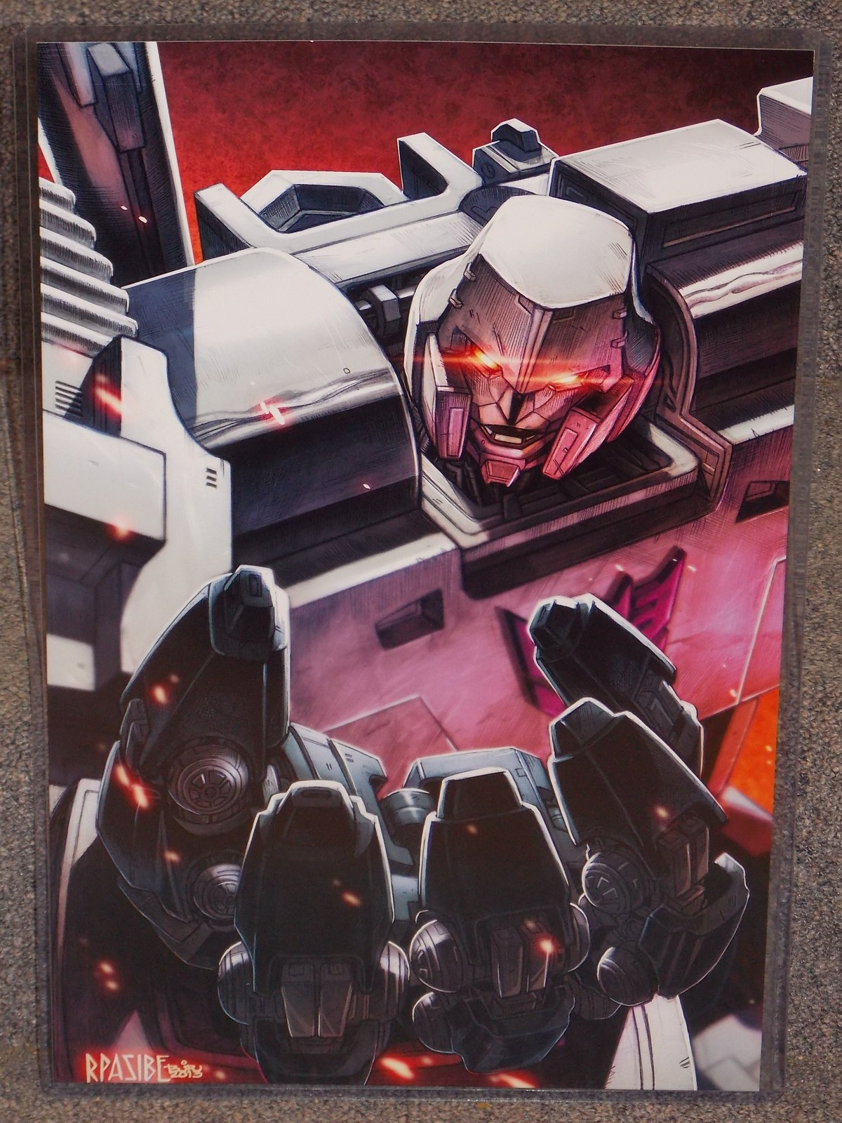 Primary image for Transformers Megatron Glossy Print 11 x 17 In Hard Plastic Sleeve