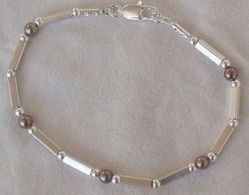 Brown silver bracelet c