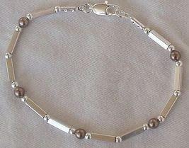 Brown silver bracelet  A - $23.00
