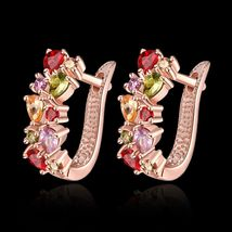 Colorful Ear Clip Dinner Earrings Made with Swarovski Elements image 3