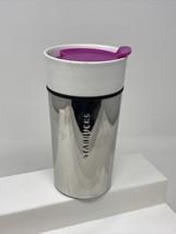 Starbucks Coffee 2014 Metal Stainless Ceramic Travel Mug Tumbler 12oz - $18.80