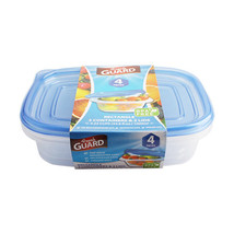 Fresh Guard Blue 4 Piece 1000 ML Rectangle Storage Containers - $5.89