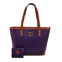 Dooney & Bourke Charleston Pebble w/CC Holder 2 Pc SET Plum