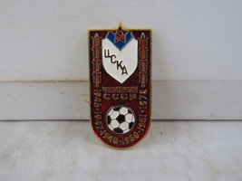 Vintage Soviet Soccer Pin - CSKA Moscow Top League Champions - Stamped Pin - $19.00