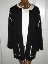 Ellen Tracy Black & White Sweater Size M - $34.95