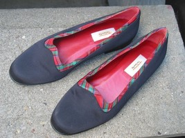 Talbots Red & Black Satin Flats Size 5.5 B   Cute! - $27.95