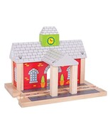 Bigjigs Rail Wooden Railway Station - Other Major Rail Brands are Compat... - $19.19
