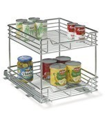 Household Essentials Two-Tier Basket Sliding Cabinet Organizer, Chrome, ... - $72.26