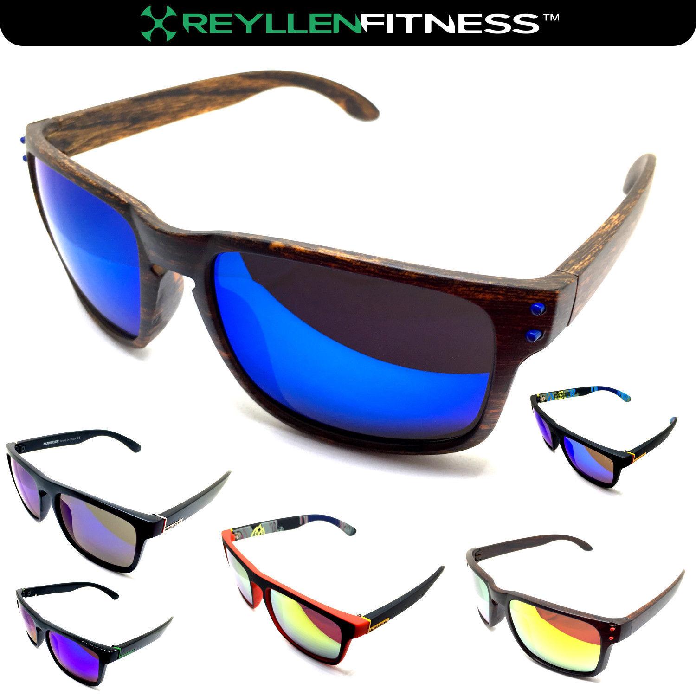 Sommer Polarisiert Mode Sport Sonnenbrille Holz Unisex UK