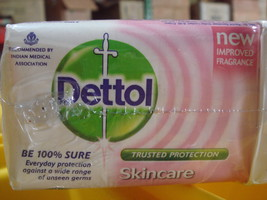 4 BARS! Dettol 70g Pink Skin Care Soap Bars Fights Germs USA-SELLER FAST SHIPPIN image 3