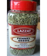 Lazzat Fennel Seeds Saunf 165g Good Quality Taste PRODUCT OF INDIA-USA S... - $9.95