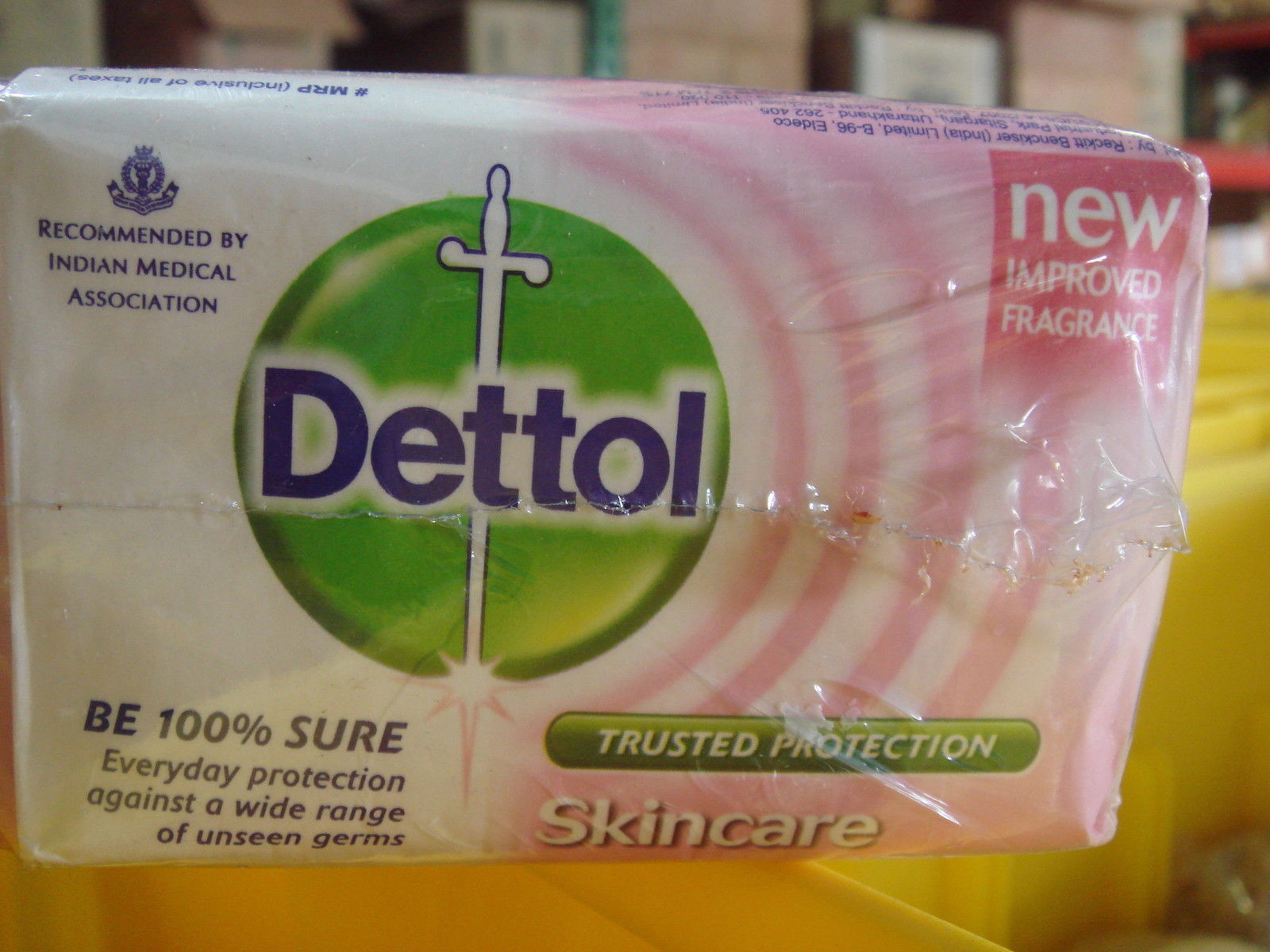 Primary image for 4 BARS! Dettol XXL 120g Pink Skin Care Soap Bars Fights Germs USA-SHIP-FAST