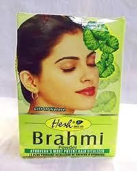 Primary image for 6 BOXES TOTAL! Hesh Herbal Brahmi Hair Powder BACOPA 100g USA SELLER FAST-SHIP