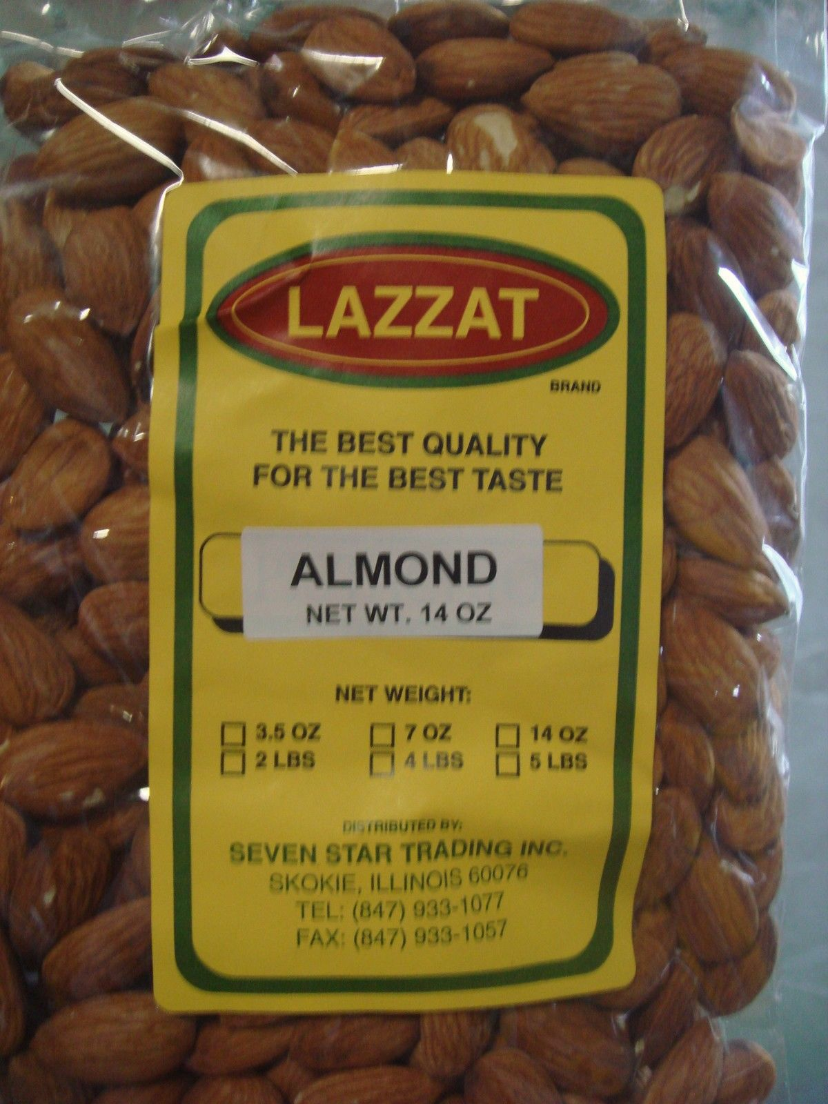 Lazzat RAW Almonds 14oz Imported From India BEST QUALITY BEST TASTE USA SELLER