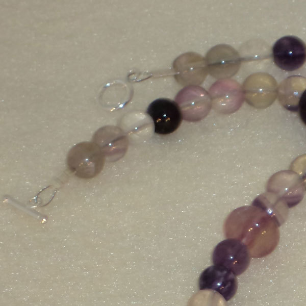 Fluorite Gemstone Beaded Necklace  FREE SHIPPING