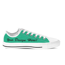 Women's Customised Low Top White Sneakers 'Design your own kicks!' - $84.95