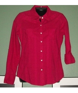 DARLING NEW ARIZONA  Rolled Tab Button 3/4 Sleeve Blouse - $9.99