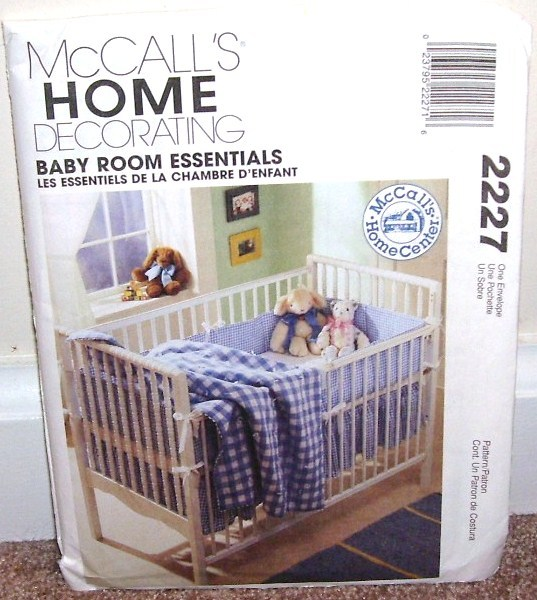 Mccalls home decorating baby room essentials pattern 2227 for Baby room decoration games free online