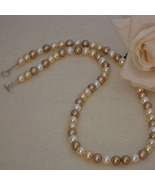 Swarovski Crystal Pearl Necklace In A Mixture Of Gold Colors  FREE SHIPPING - $40.00