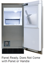 Sub-Zero UC15IP 15 Inch Built-In Indoor Panel Ready Ice Machine Clear Ice - $2,803.63