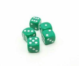 Perudo Green Dice Replacement Game Part Piece Plastic 2008 1808 Rounded Corners - $3.99