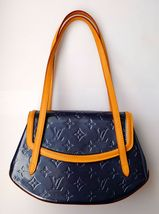 Authentic Louis Vuitton  Biscayne Bay PM Shoulder Bag Vernis in Indigo - $625.00
