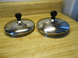 farberware lid only two farberware lids that fit the one quart sauce pan straine - $12.95