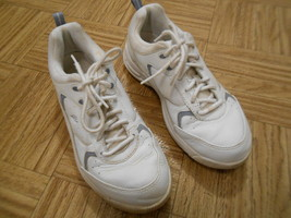 women's easy spirit white leather shoes anti gravity size 6 1/2 ~ very comfy - $37.83 CAD