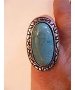 SALE!!!  JACK E OHS OF NYC TURQUOISE IN TIBETAN SETTING ADJUSTABLE RING - $9.49