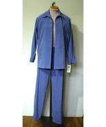 NOTATIONS Periwinkle Wms Pantsuit Jacket S Pant... - $13.71