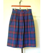 PENDLETON Women's Royal Blue Red Plaid Soft Ple... - $22.50