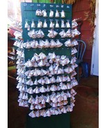4 Porcelain Bell Christmas Ornaments GANZ PERSO... - $14.00