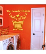 """Sorting Out Life Laundry Room Vinyl Wall Quote Sticker Decal 38""""w x 29""""h - $29.99"""