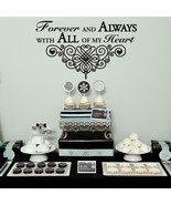"Forever and Always Wedding Wall Decor Vinyl Sticker Decal 22""h x 37""w - $39.99"