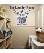 """Sorting Out Life Laundry Room Vinyl Wall Quote Sticker Decal 57""""w x 44""""h - $45.00"""