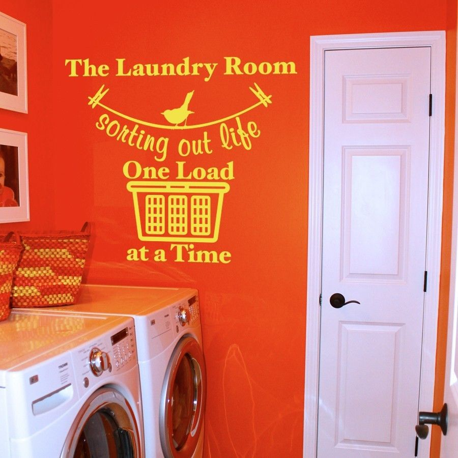 """Sorting Out Life Laundry Room Vinyl Wall Quote Sticker Decal 22""""w x 17""""h"""