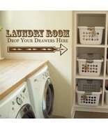 """Drop Your Drawers Laundry Room Vinyl Wall Quote Sticker Decal 9""""w x 22""""h - $17.99"""